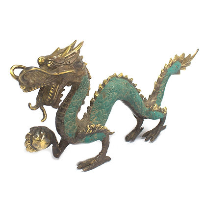 Medium Hand Made Brass Dragon