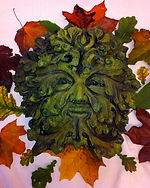 Handmade Green Man by British Artist Simon at Jack In the Green Ethical Gift Shop