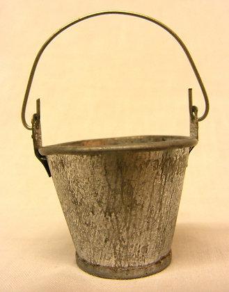 Rustic Zinc Bucket For Fairy Garden