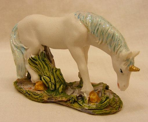 Unicorn With Blue Mane