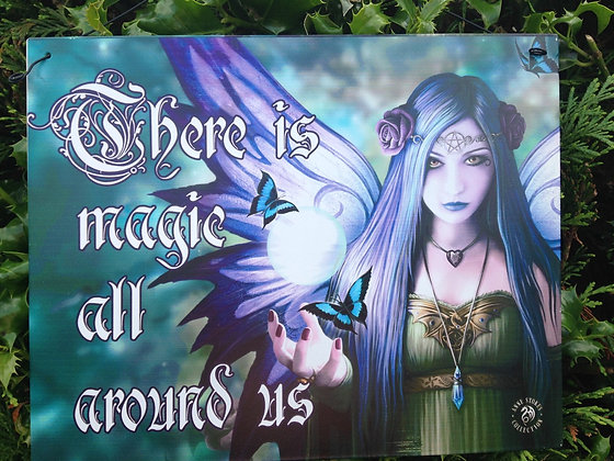 Magical Fairy Metal Hanging Plaque