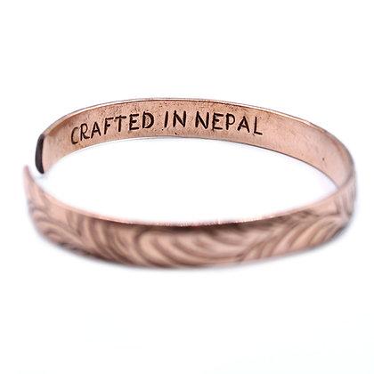 Slim Swirl Pattern Handmade Tibetan Bracelet