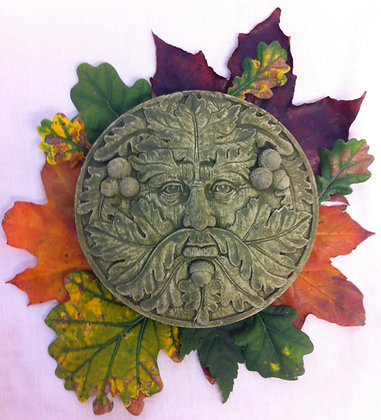 Small Round Oak Green Man