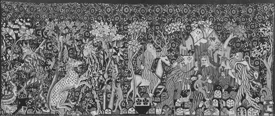 black and white photo of Wartburg wild men