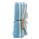Blue Cotton Throw, Picnic blanket, saron