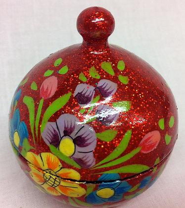 Fair Trade Red Glitter Pot