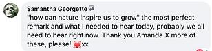 S Georgette praise for Amanda Claire