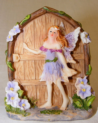 Fairy Door with lilac fairy