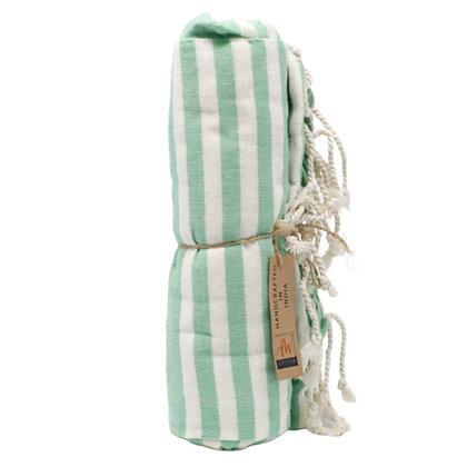 Green Cotton Throw / Sarong