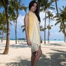 Yellow throw and sarong 1