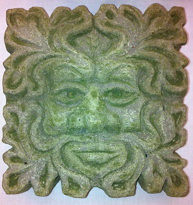 Traditional Small Square Green Man