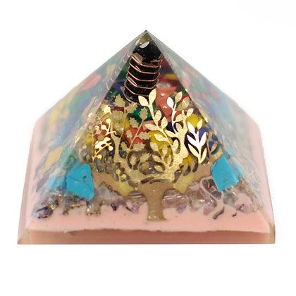 Large Organite Pyramid 70mm - Tree(earth base)