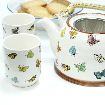 Herbal Teapot Butterfly Set