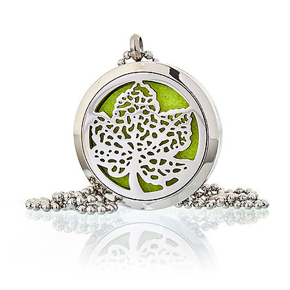 Aromatherapy Leaf Necklace