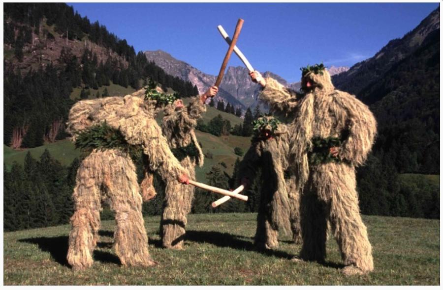 wilde mandle tanz green men