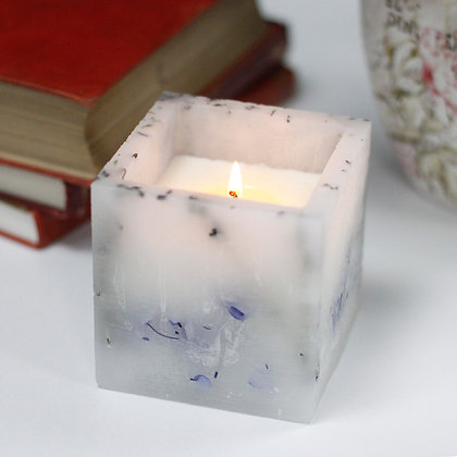 Lavender Flower Enchanted Glow Candle