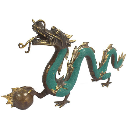 Large Hand Made Brass Dragon