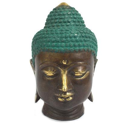 Handmade Brass Buddha Head