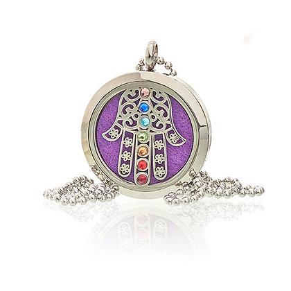 Hamsa Chakra Aromatherapy Necklace