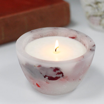 Rose Bowl Soy Wax Glow Candle