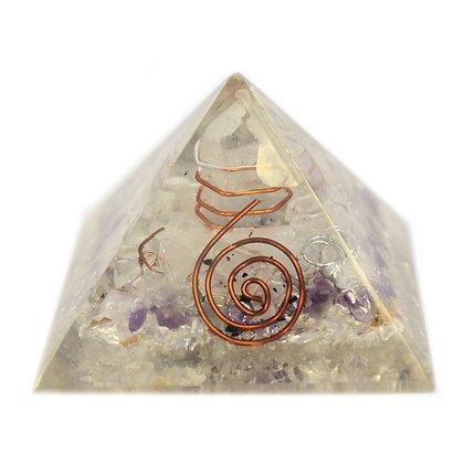 Medium Orgonaite Pyramid with Copper