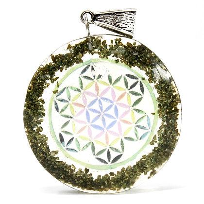 Greenstone Orgonite Mandala