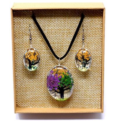 Multicolour Tree of Life Jewellery Set