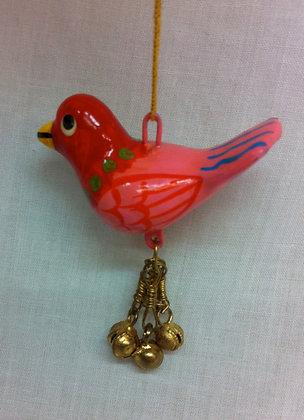 Fair Trade Pink Birdy Bell