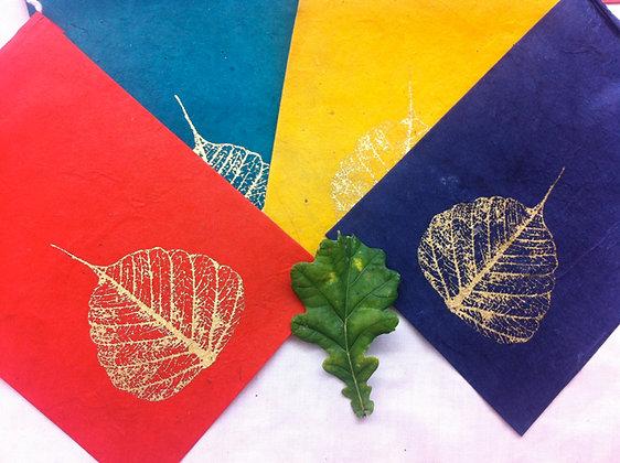 Fair Trade Bodhi Leaf Bunting