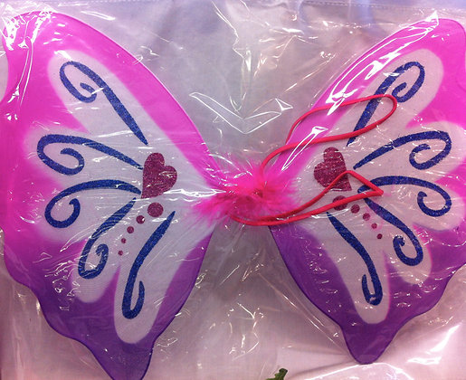 Pink Patterned Fairy Wings