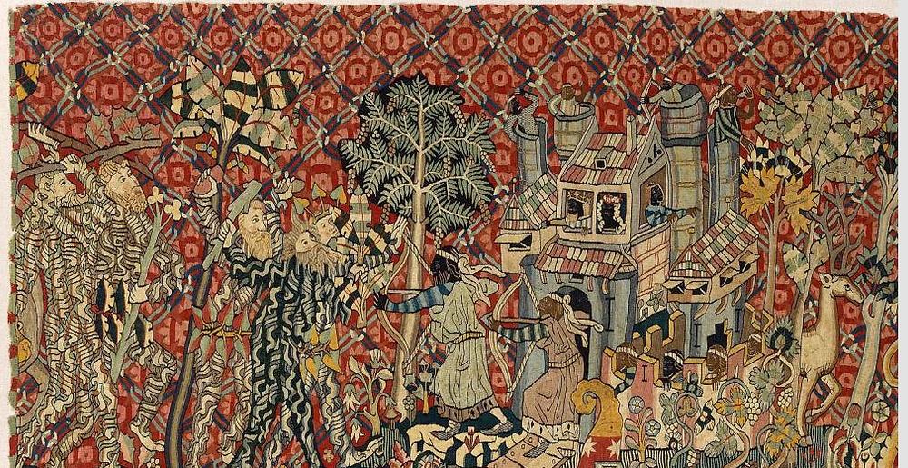 Wartburg tapestry wild men