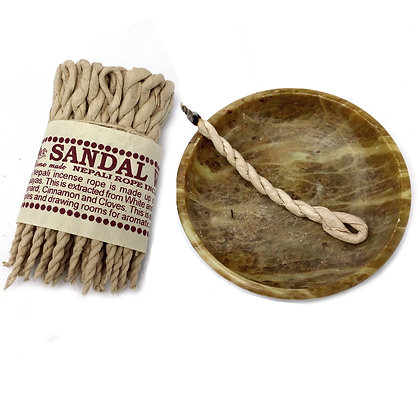 Sandalwood and Spice Pure Herbs Incense Rope