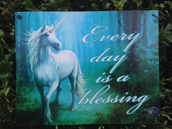 Unicorn Blessing Metal Hanging Plaque