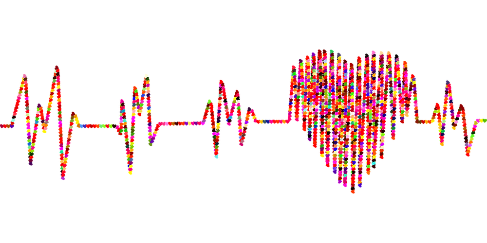 Multi coloured Cardiogram