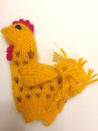 Handmade Rooster Finger Puppet