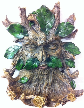 Winking Green Man Bird Feeder