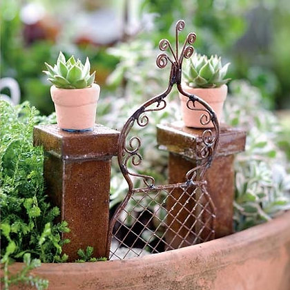 French Style Fairy Garden Gate & Posts