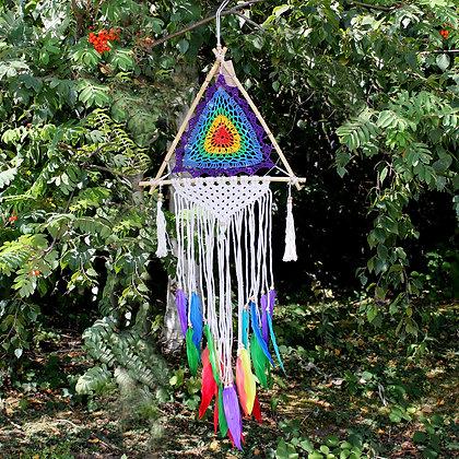 Rainbow Pyramid Dream Catcher