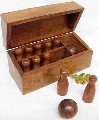Fair Trade Wooden Table Top Skittle Set