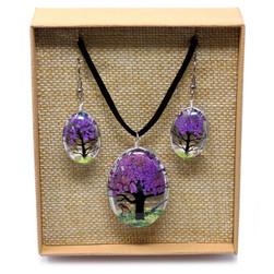 Purple tree of life jewellery