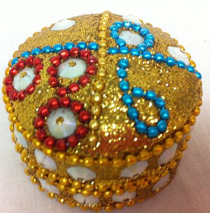 Round Yellow Sparkley Mini Pot