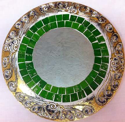 Fair Trade Green Mosaic Mirror