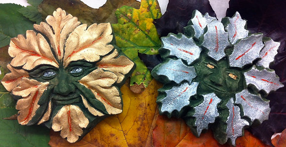 Small Gilded Oak King & Holly King