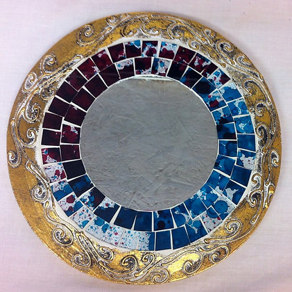 Fair Trade Small Round Mosaic Mirror