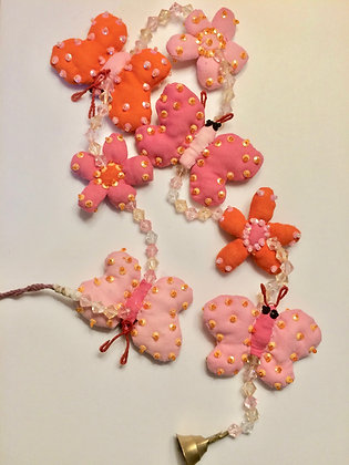Hanging Butterfly & Flower String