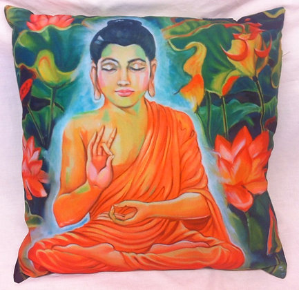 Orange Buddha Cushion