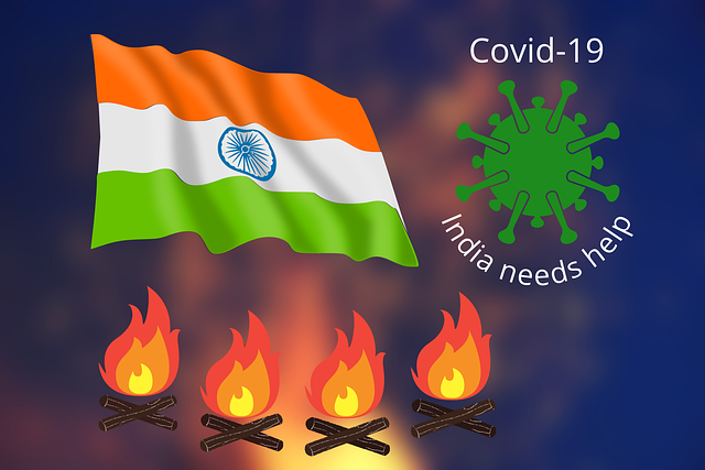 Indian flag and Covid 19