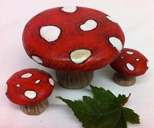 Toadstool Table Set for Fairy Garden