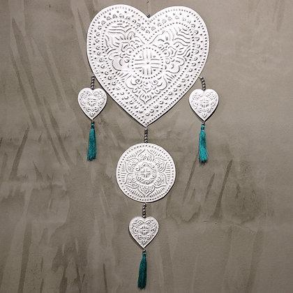 Large White Heart Mobile