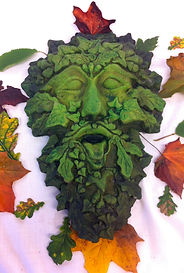 Large Gothic Ivy Green Man at Jack In Th